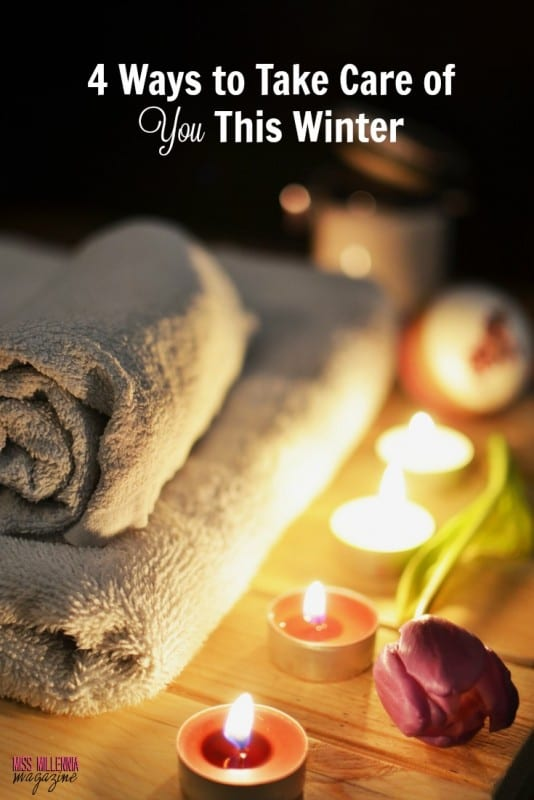 towels, candles, and flower to take care of you