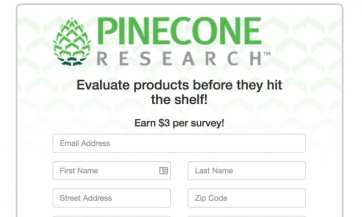 pinecone research survey sites