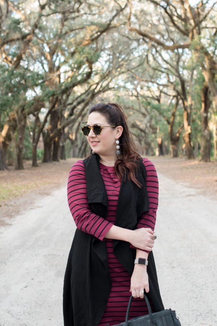 A Striped Shift Dress in Savannah