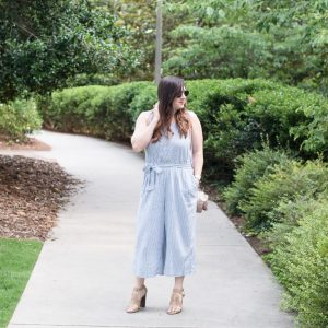 Summer Style: A Wide-Leg Seersucker Jumpsuit via @missmollymoon