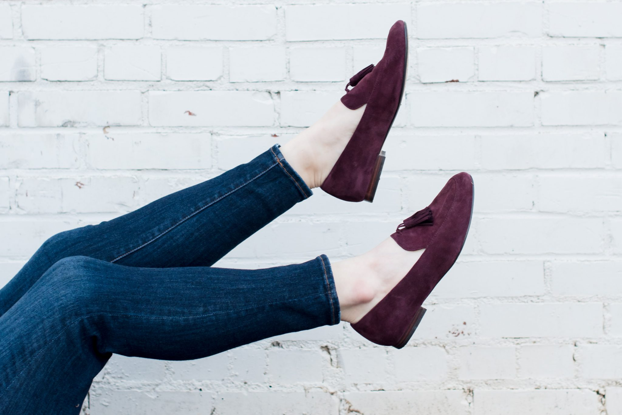 Lands End Tassel Loafers // Miss Molly Moon