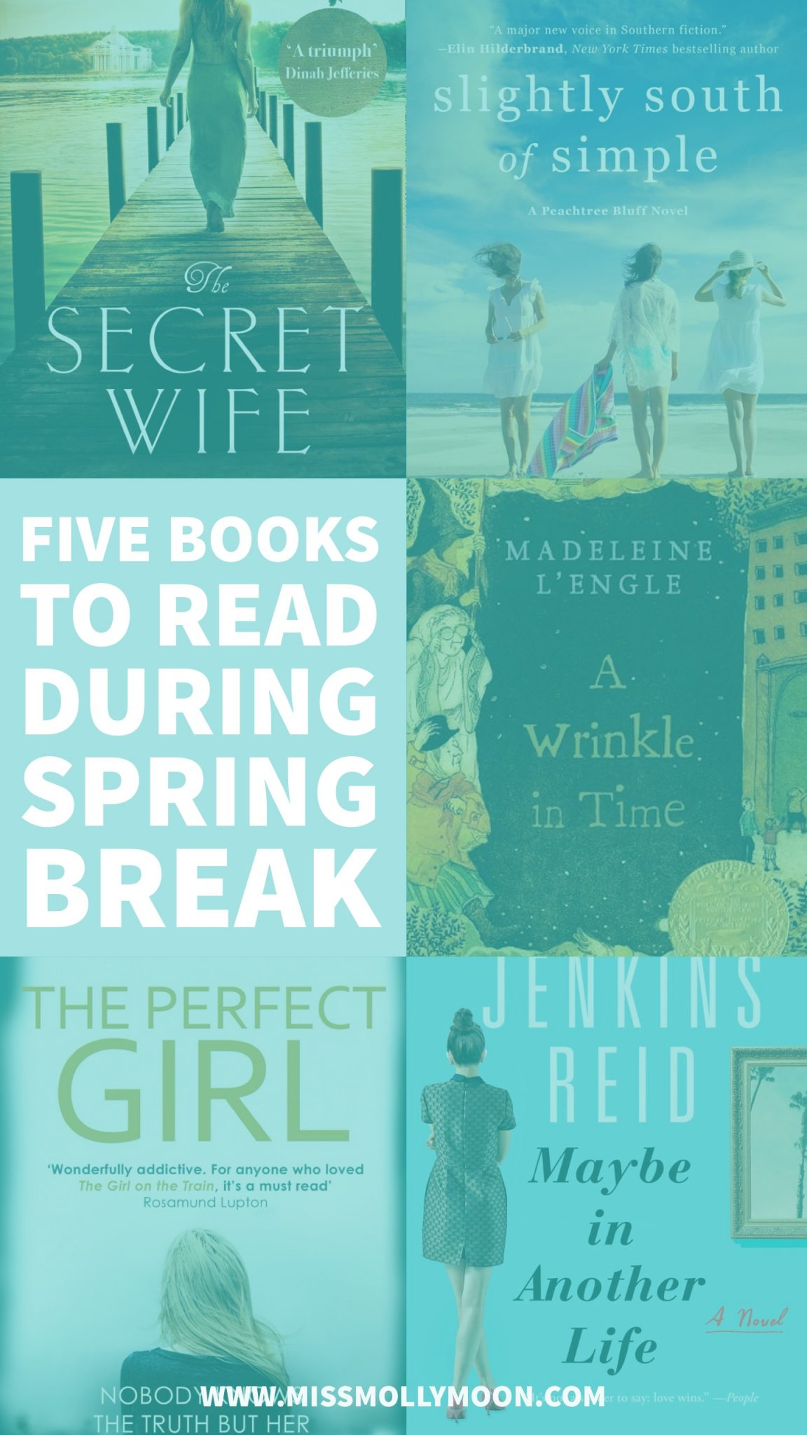 Five Books to Read During Spring Break // Miss Molly Moon