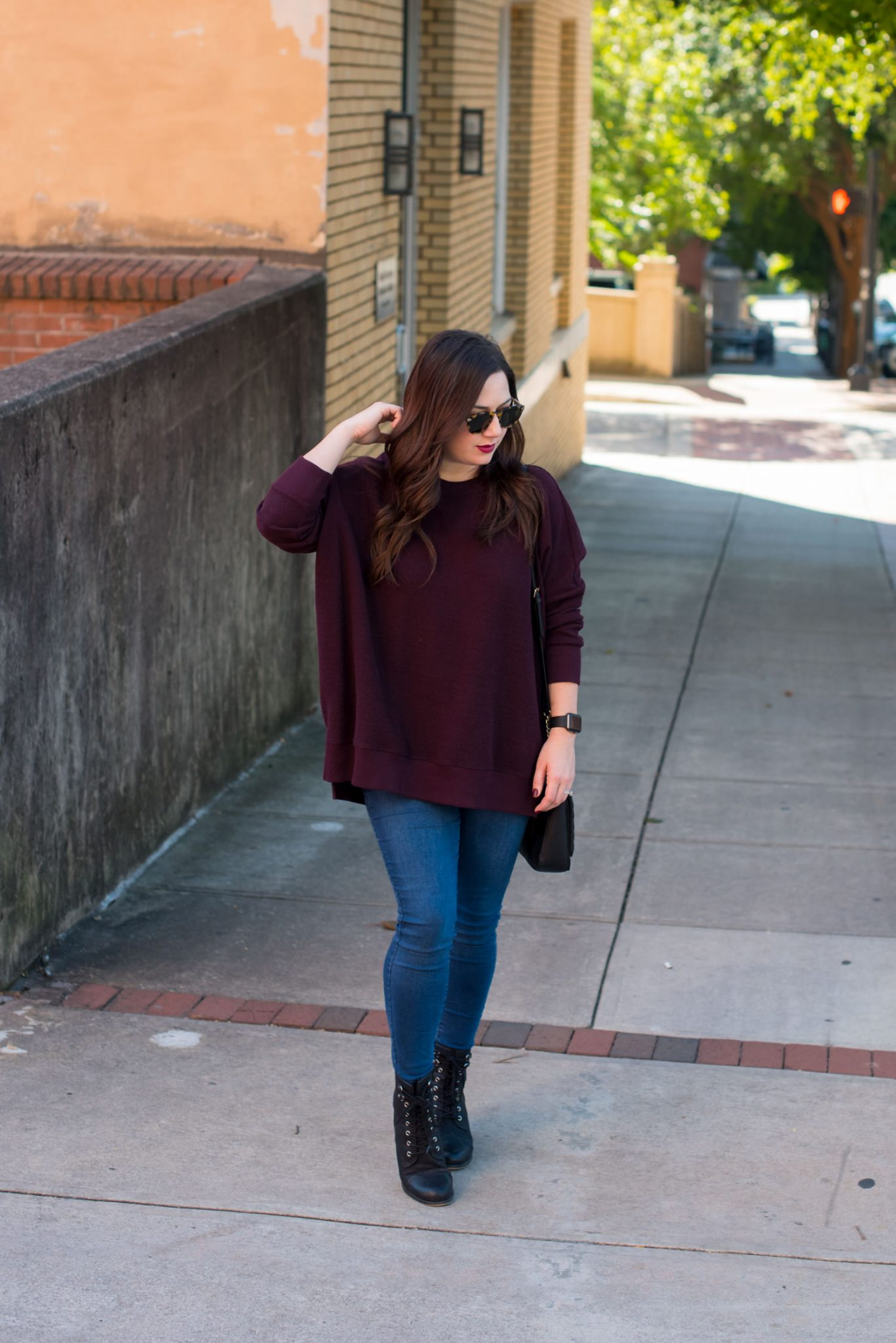 Nordstrom Giveaway   Old Navy   Fashion   How to Style an Oversized Sweatshirt featured by top Atlanta fashion blogger Miss Molly Moon