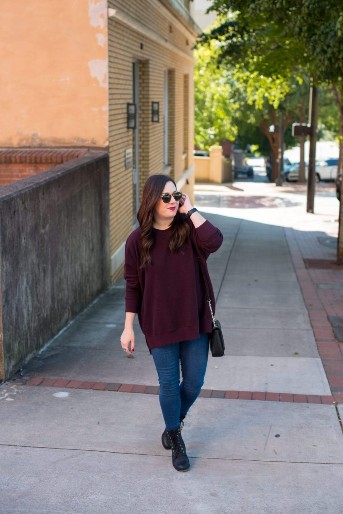 Nordstrom Giveaway | Old Navy | Fashion | How to Style an Oversized Sweatshirt featured by top Atlanta fashion blogger Miss Molly Moon