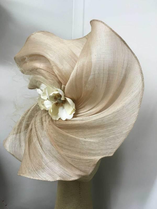 Nude Blush Gin Swirl Hat