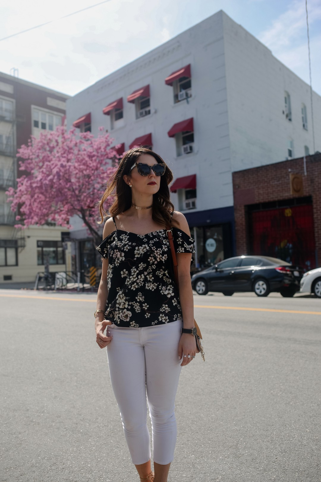 White Jeans and Florals