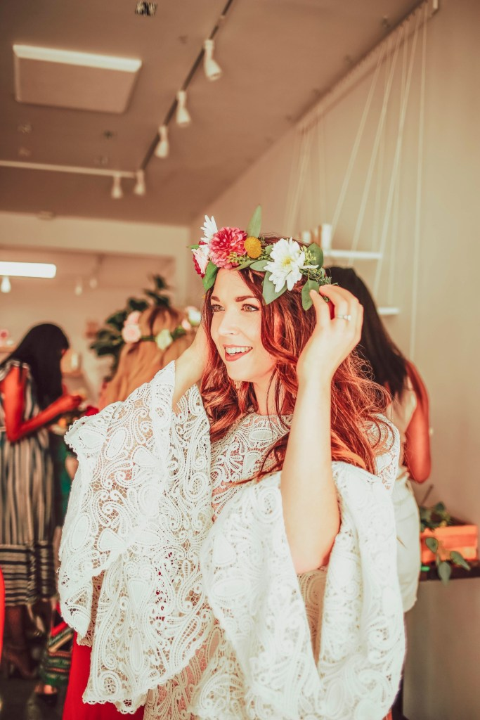 boho bridal shower at makers mess in los angeles