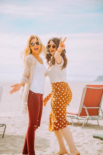 Girls on the beach in San Diego, CA