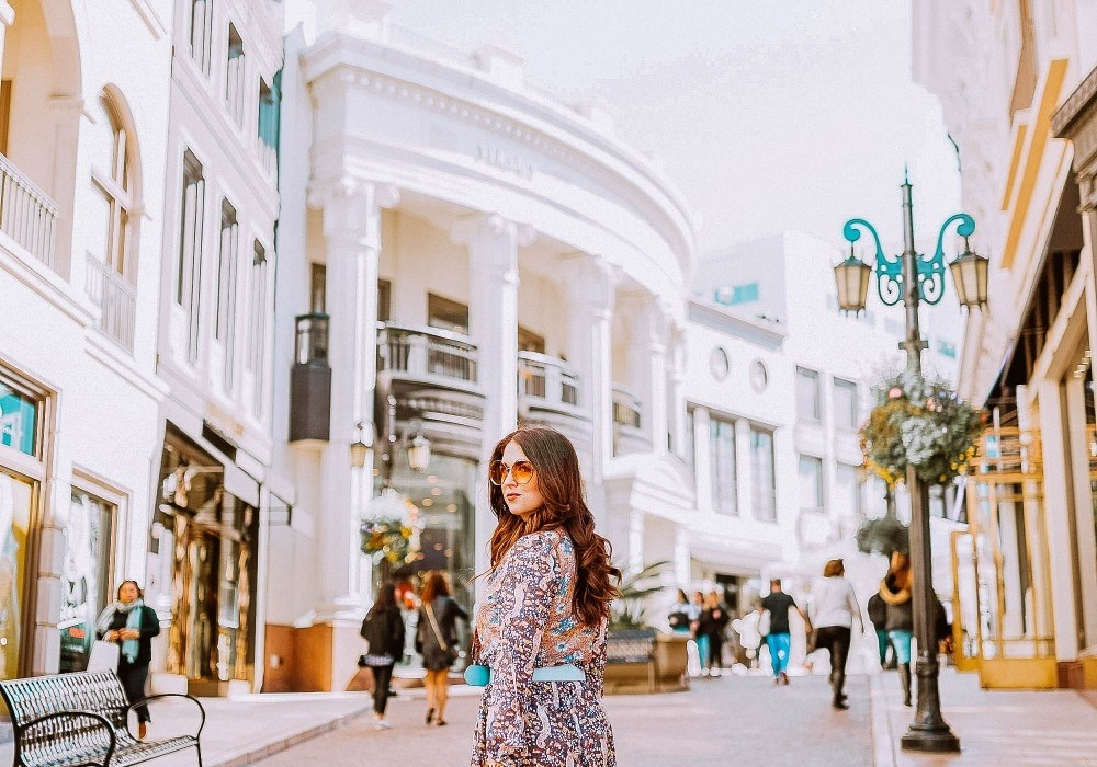 Wearing an outfit from Shein on Rodeo Drive, Beverly Hills, CA