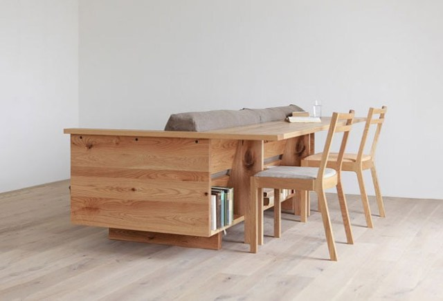 Functional Decor Couch and Table Combination