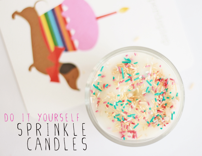 DIY | Sprinkle Candles