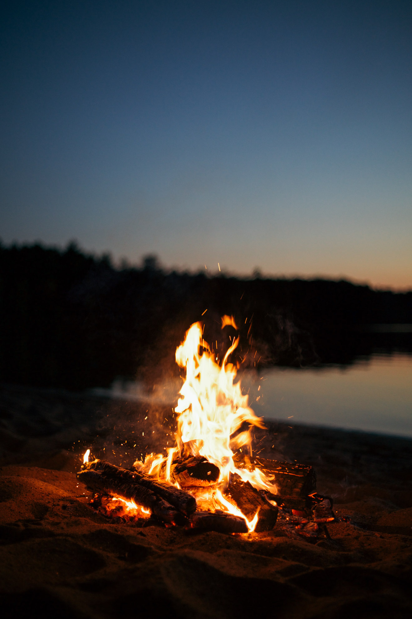 campfire on the beach at night miss northerner