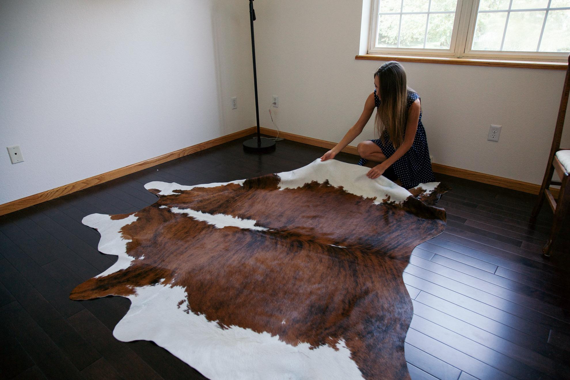 girl with cowhide rug miss northerner