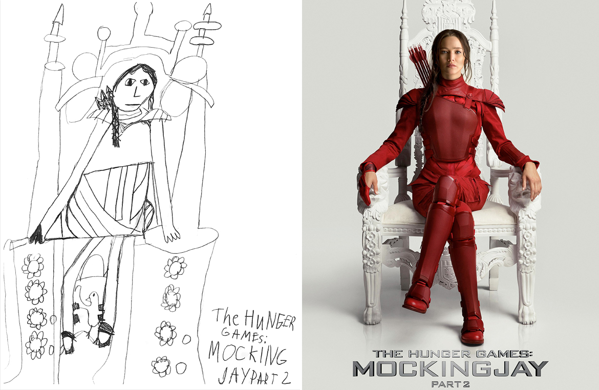 the hunger games mockingjay part 2 movie poster drawing miss