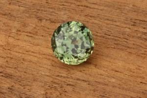 Round Green Montana Sapphire