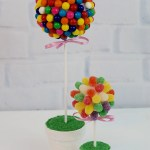 Candy Topiary Centerpieces Inspired By Dollar Tree Products