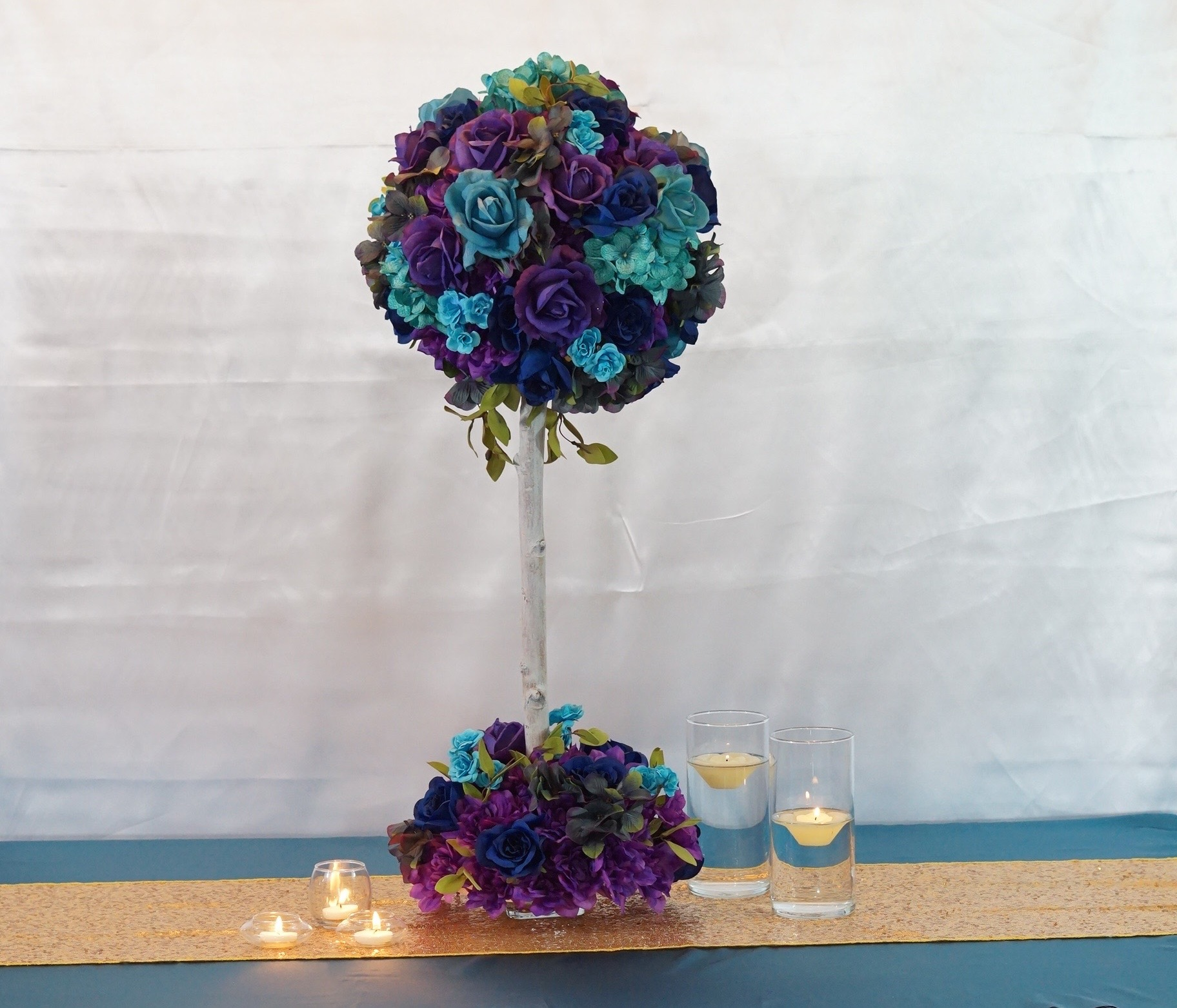Turquoise And Purple Centerpieces Topsimages