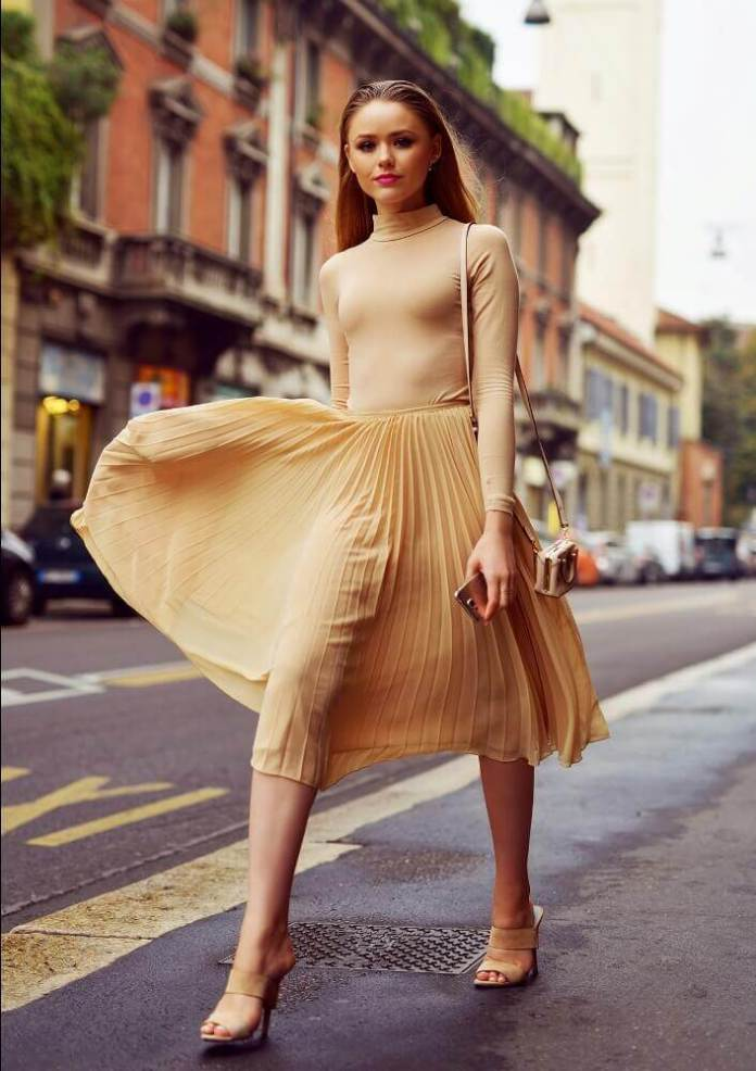 4. If youll wear a fitted top balance it with a fuller skirt. - 10 Ways to Dress a Pear Body Shape