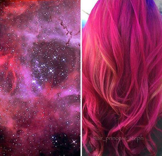 galaxy hair one shade pink - Galaxy Hair: How to Do It At Home and Amazing Hairstyles You Need to Try