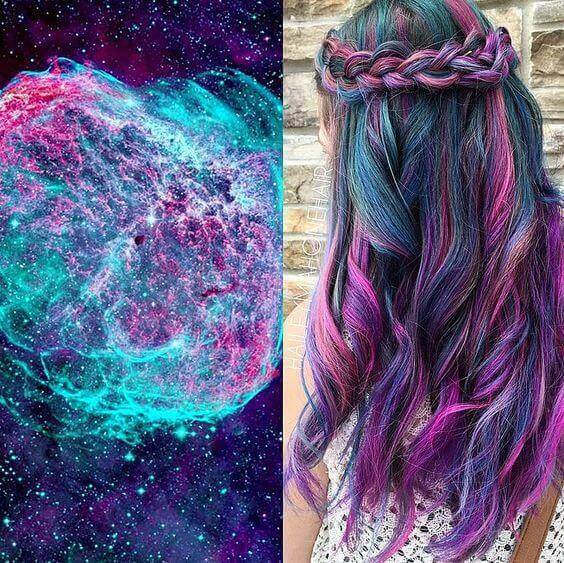 galaxy hair style - Galaxy Hair: How to Do It At Home and Amazing Hairstyles You Need to Try