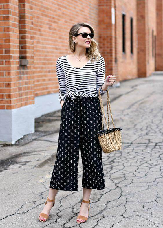 Striped Tee over a Jumpsuit
