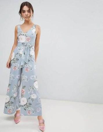 Jumpsuit with Floral Print