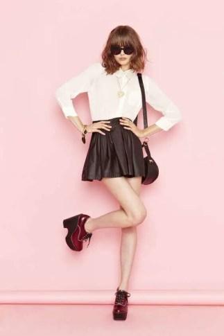 Skater Skirt with Polka Dots