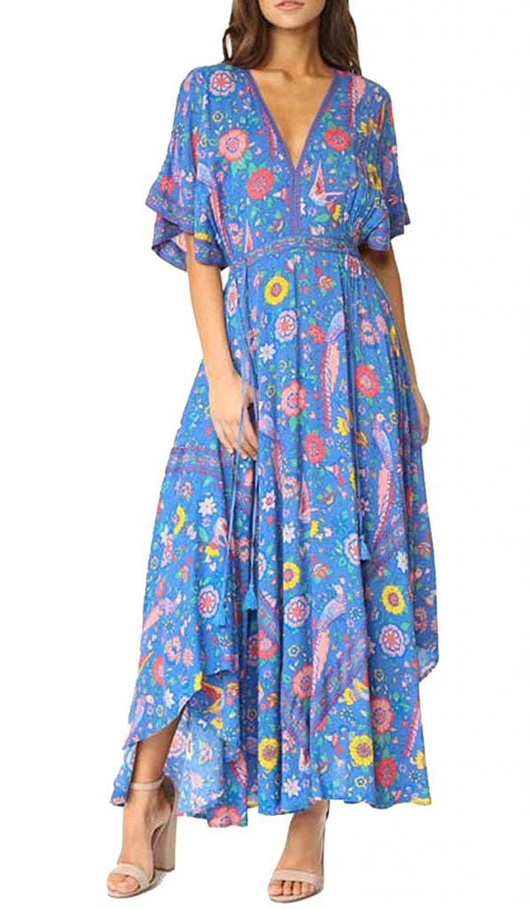 Cotton dress with Prints