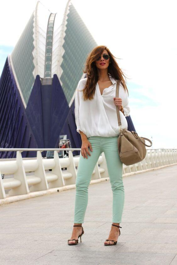 mint green outfit idea