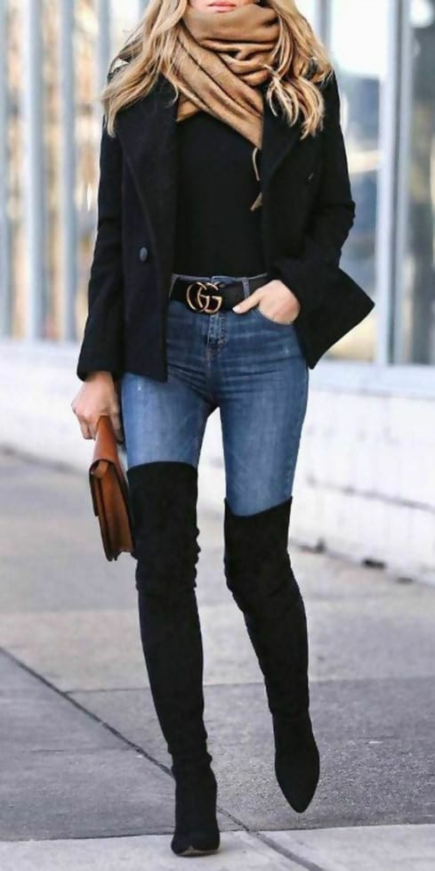 40 Thigh High Boots Outfit Ideas That