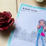 """MissQ kort """"Just smile"""""""