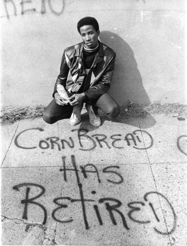Photo: CORNBREAD declares he has retired, 1971. Photo used with permission of Philadelphia Inquirer, ©2014