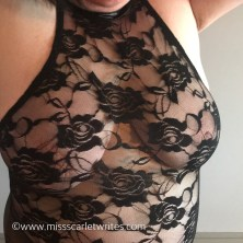 black lace boobs