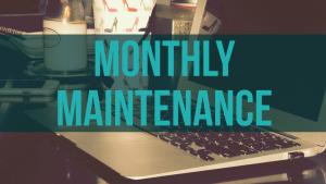 Computer with WordPress Monthly Maintenance