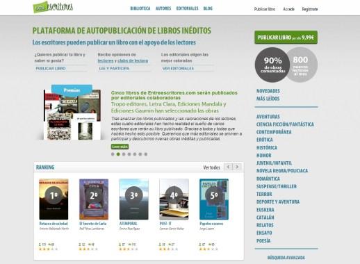 Publicar libro online en entreescritores