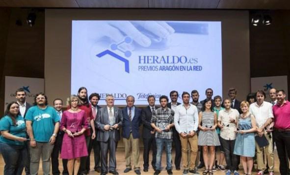 Ganadores de la primera edición de los Premios Aragon en la Red de Heraldo de Aragon