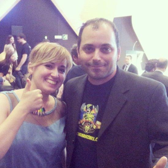 Junto a Carlos Gallego de Cinemascomics