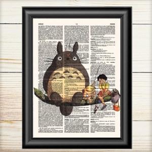 Totoro Lamina para enmarcar con texto