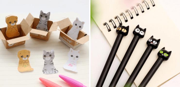 papeleria kawaii gatos