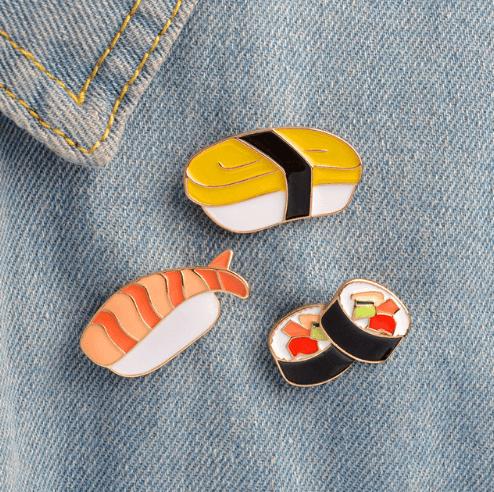 pin broche sushi