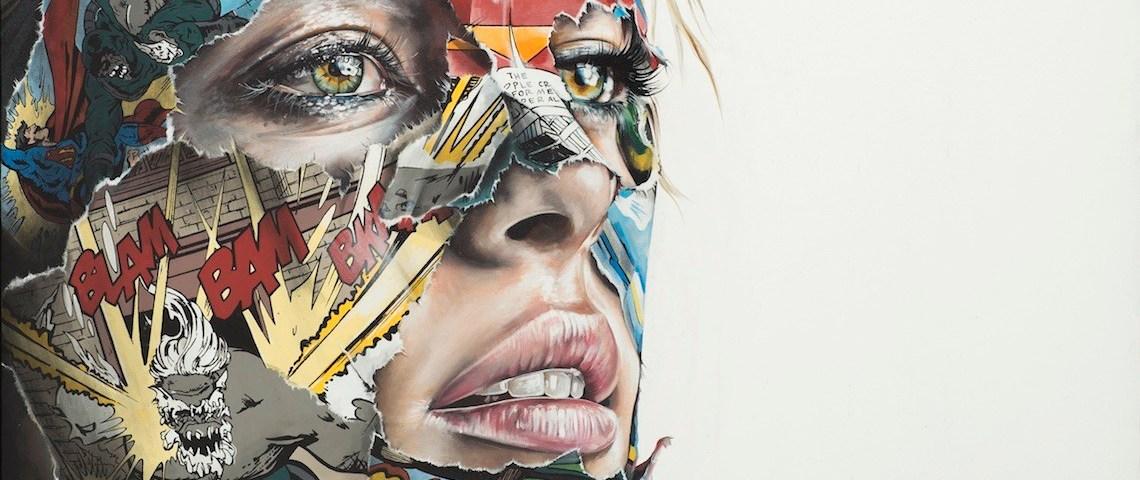 Sandra Chevrier, arte que muestra cómics a través de rostros de mujeres