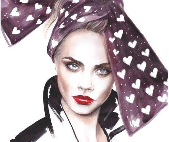 Lena Ker, una ilustradora con foco en la moda