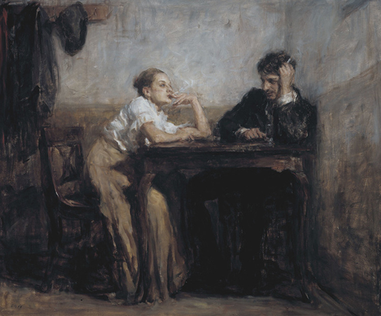 Ron Hicks pintura pareja