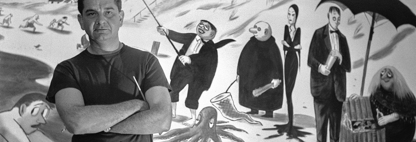 Tras el origen de La Familia Addams: tiras cómicas