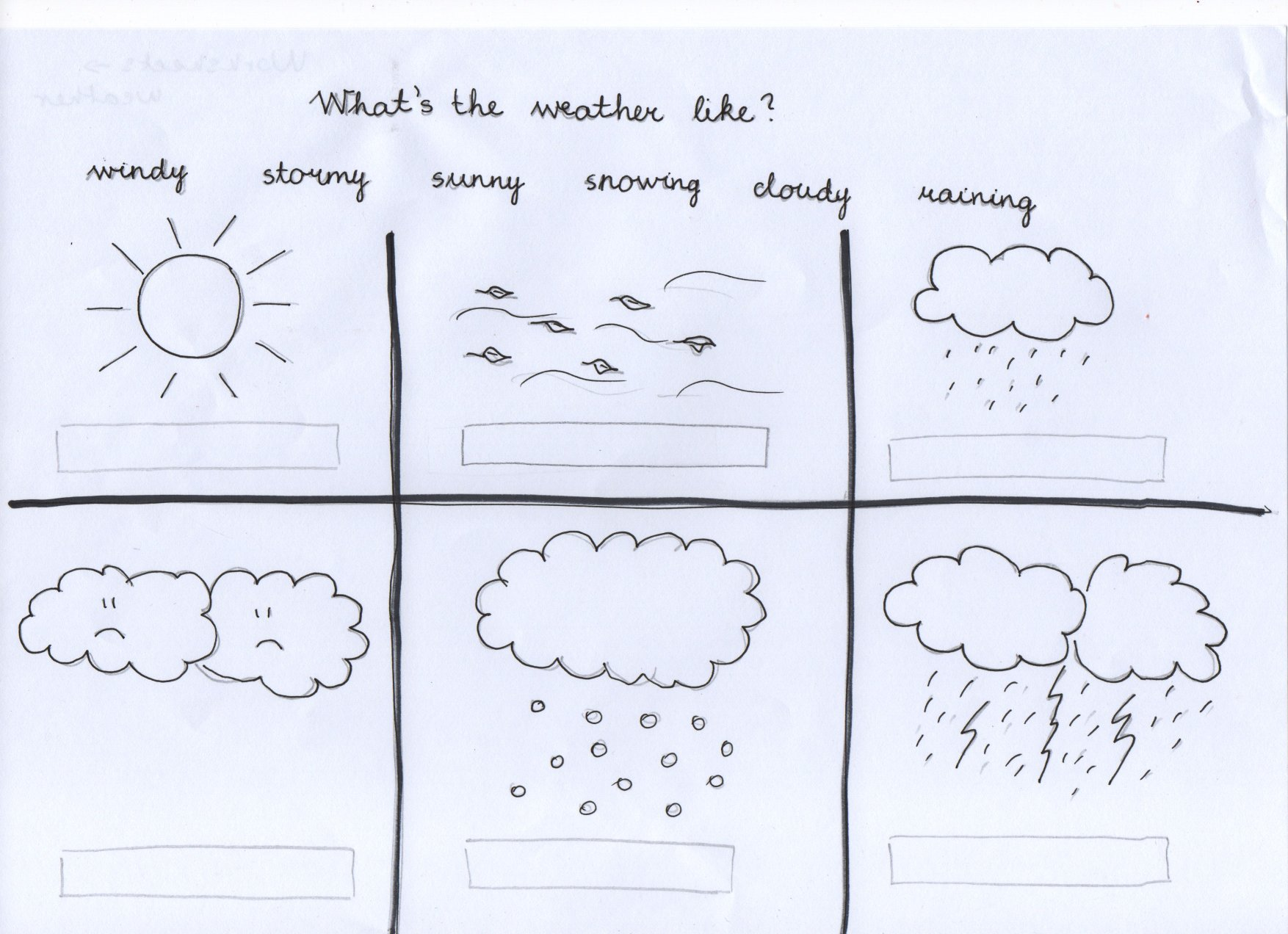 Worksheet Pre K Weather