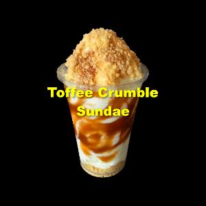 Toffee Crumble Sundae