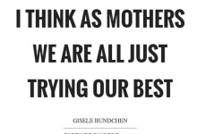 We are all mothers…