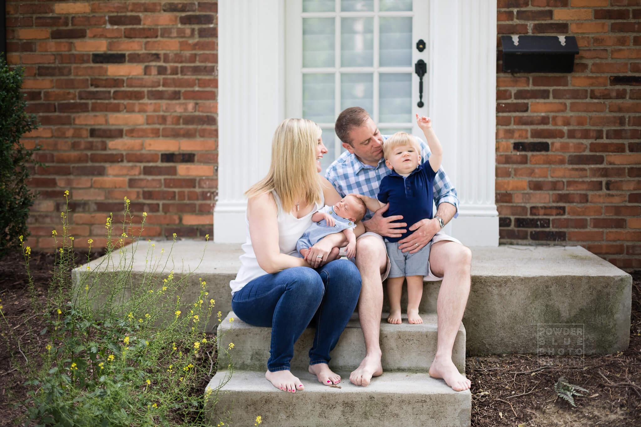 Pittsburgh Newborn Photographer | Outdoor Newborn Portraits | Baby Aidan