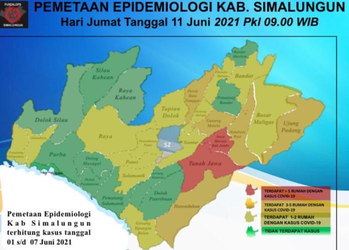 Dua Kecamatan di Simalungun Berstatus Zona Merah Covid-19