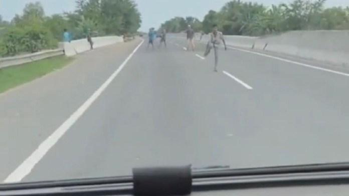 Viral Geng ABG Pungli dan Lempari Mobil di Pintu Tol Belawan